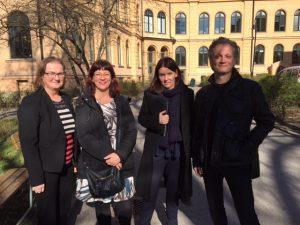 Karina, Marie, Anna och Krister i Makt-projektet